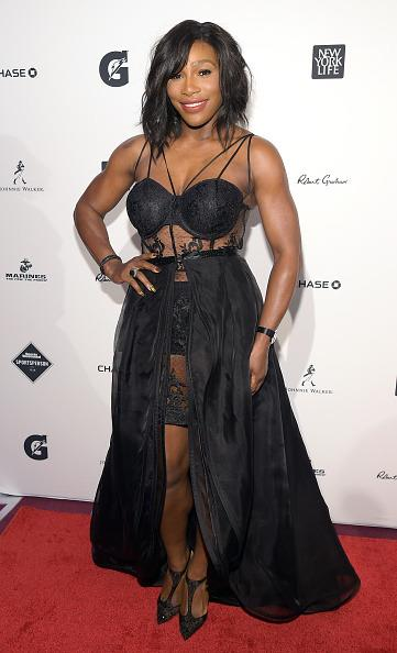 <p>For Sports Illustrated 'Sportsperson Of The Year' ceremony Serena opted for a daring black lace dress. <i>[Photo:Theo Wargo/Getty Images]</i></p>