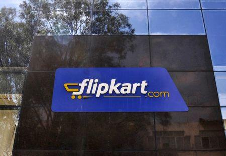 FILE PHOTO: The logo of India's largest online marketplace Flipkart is seen on a building in Bengaluru, India