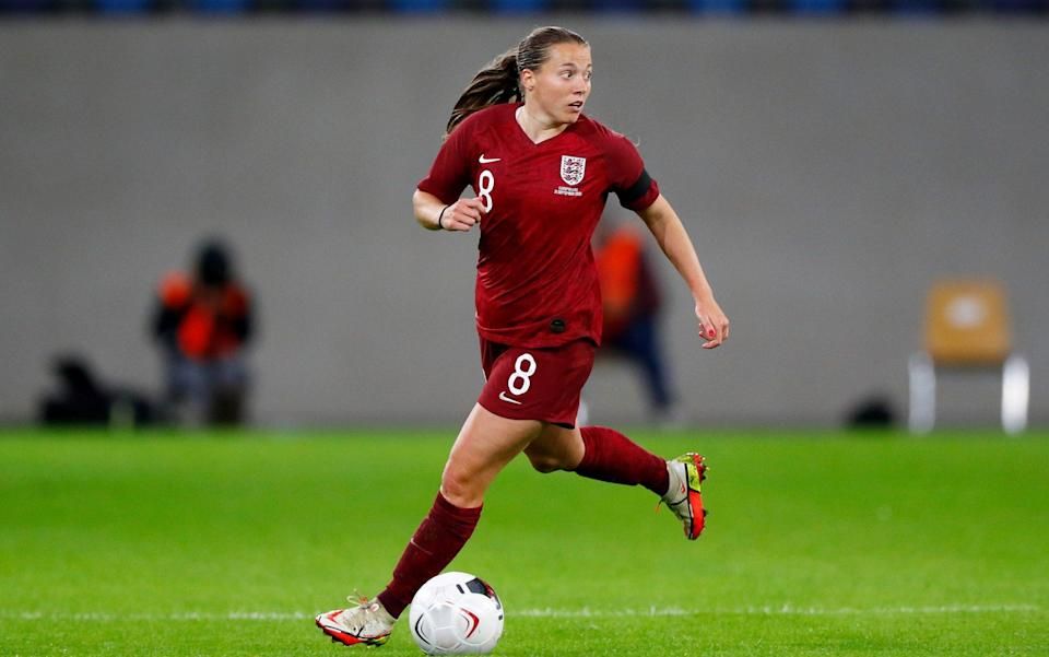 Fran Kirby of England runs with the ball during the FIFA Women's World Cup 2023 Qualifier group D match between Luxembourg and England - Getty Images
