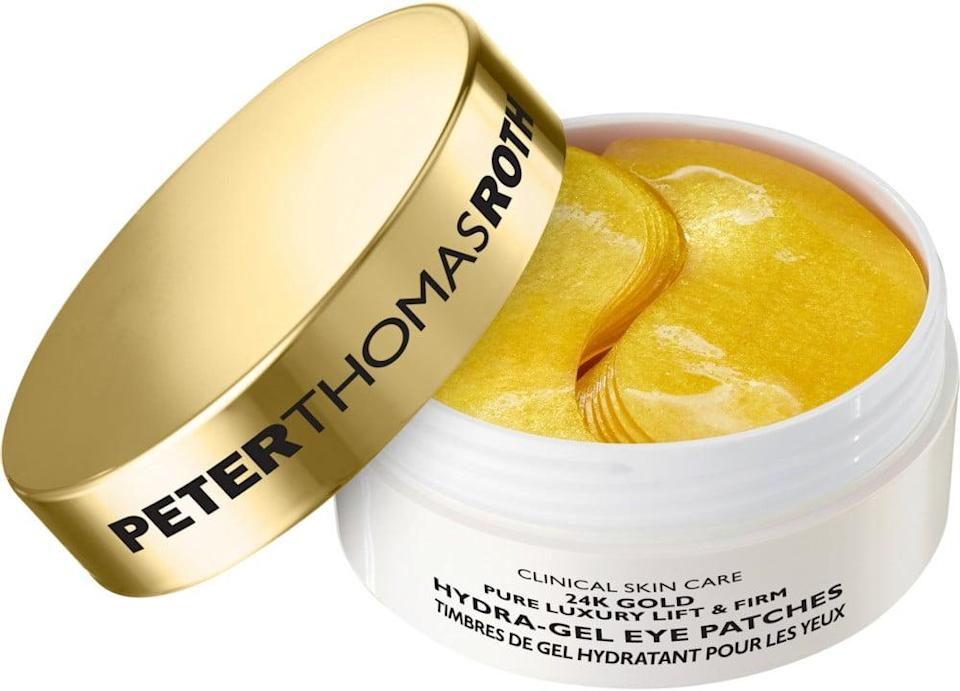 <p>Sing it with us: this <span>Peter Thomas Roth Hydra-Gel Eye Patch</span> ($75) brings 24-karat magic to your eyes. Yes, actually. Although I think most of us leave the masking to nighttime, I actually pop these on while I'm getting dressed in the morning. It only takes 10 minutes for the hyaluronic acid, collagen, and caffeine-infused patches to pamper my eyes and leave me looking like a golden girl.</p>