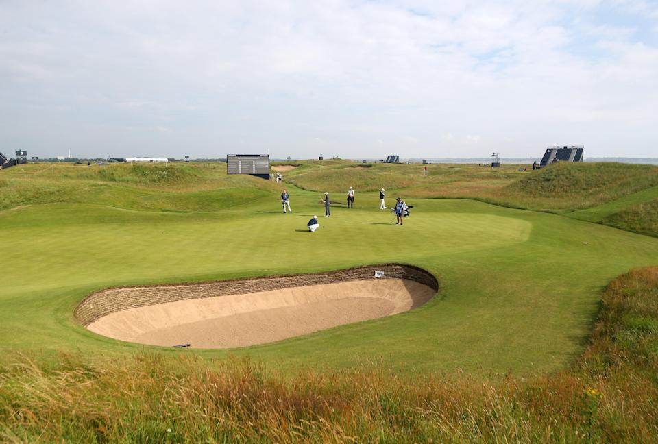 A general view of the sixth green at Royal St George's (PA Wire)