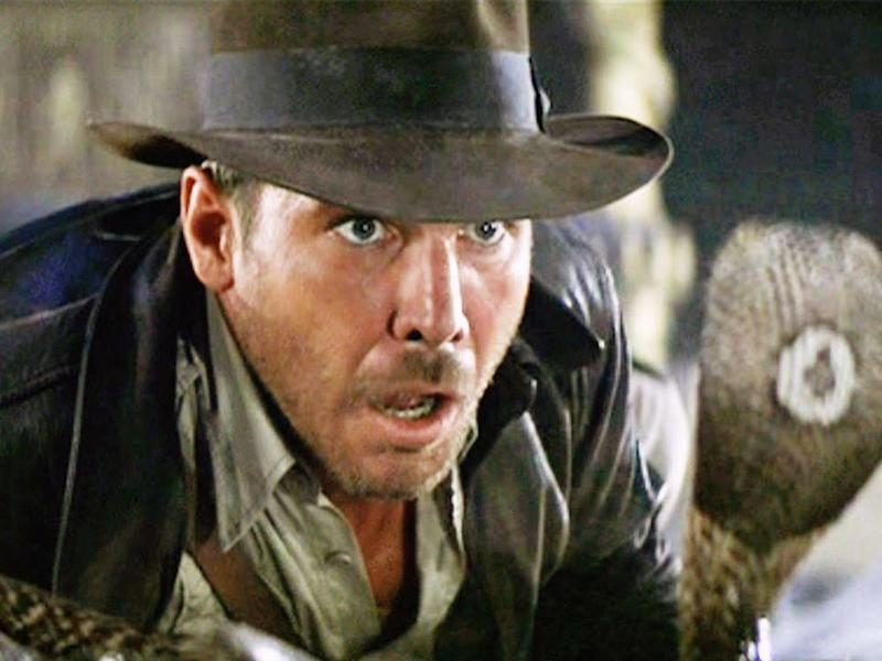 Harrison Ford as Indiana Jones, coming face to face with a Cobra in 1981's 'Raiders of the Lost Ark': Paramount Pictures