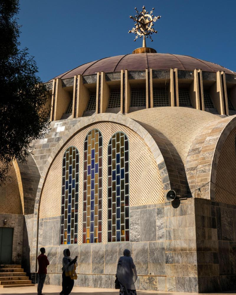 The Church of Our Lady Mary of Zion, in Aksum, said to be home to the Ark of the Covenant.