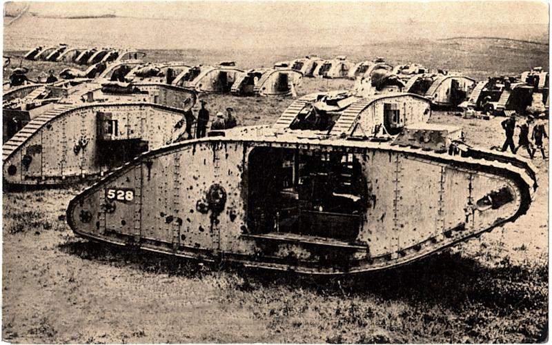 British tanks on the Western Front - Universal History Archive