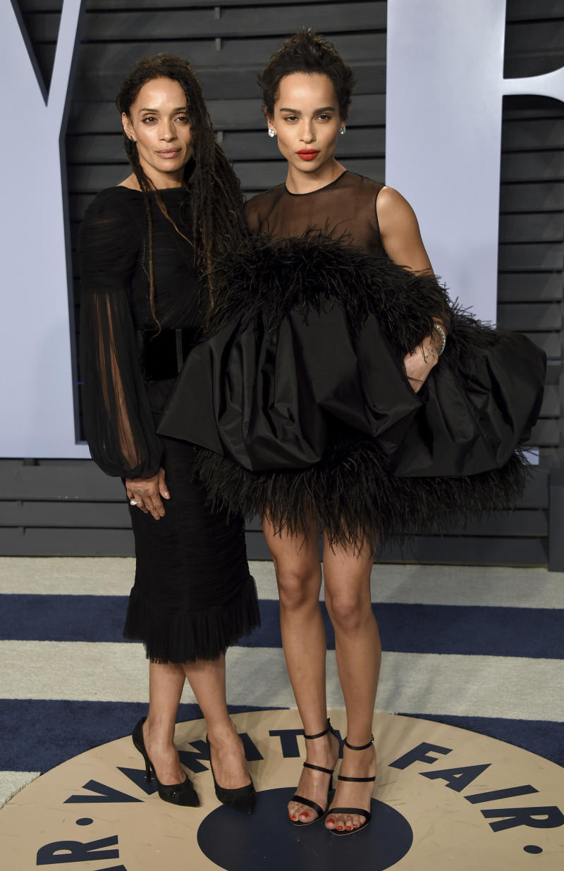 Lisa Bonet, left, and Zoe Kravitz