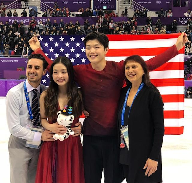 <p>maiashibutani: Love our team!!! (Photo via Instagram/maiashibutani) </p>