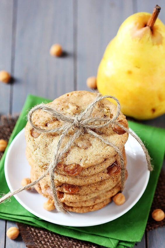 """<p>When you need a break from chocolate chip, try these out!</p><p>Get the recipe from <a href=""""https://www.gimmesomeoven.com/caramel-pear-cookies/"""" rel=""""nofollow noopener"""" target=""""_blank"""" data-ylk=""""slk:Gimme Some Oven"""" class=""""link rapid-noclick-resp"""">Gimme Some Oven</a>.</p>"""