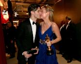 """<p>After being longtime partners, the Oscar winner and her musician fiancé <a href=""""https://people.com/movies/brie-larson-boyfriend-alex-greenwald-end-engagement/"""" rel=""""nofollow noopener"""" target=""""_blank"""" data-ylk=""""slk:ended their engagement of three years"""" class=""""link rapid-noclick-resp"""">ended their engagement of three years</a> in early 2019. A source said at the time, """"They have taken a step back from their engagement for the time being but they remain close."""" </p>"""