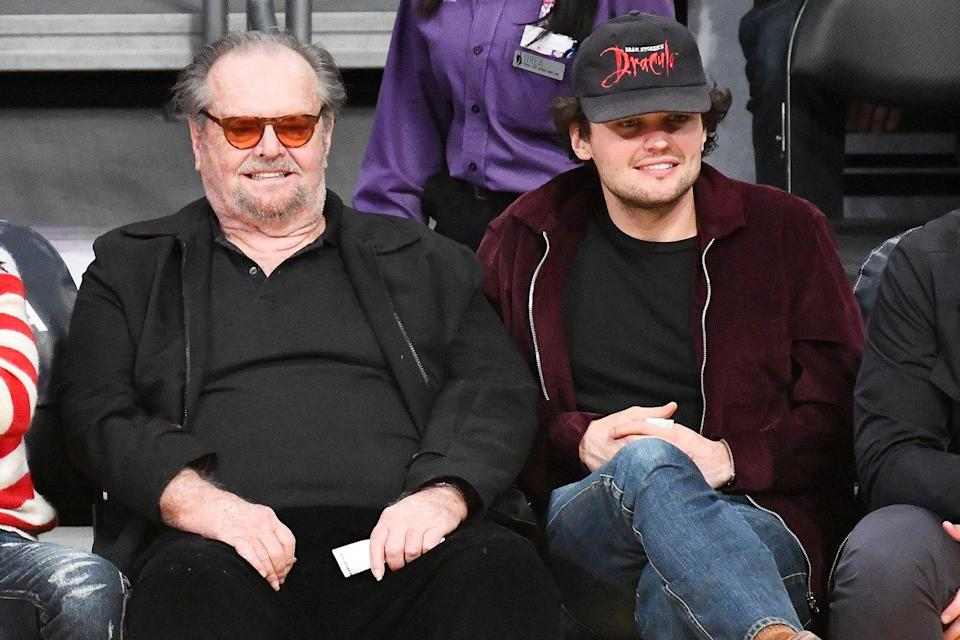 Jack Nicholson Makes a Rare Public Appearance to Cheer on the Lakers with Son Ray