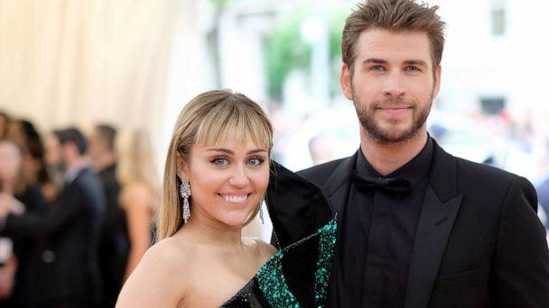 PHOTO: Miley Cyrus and Liam Hemsworth attend The 2019 Met Gala Celebrating Camp: Notes on Fashion at Metropolitan Museum of Art on May 6, 2019, in New York City. (Dimitrios Kambouris/Getty Images for The Met Museum/Vogue)