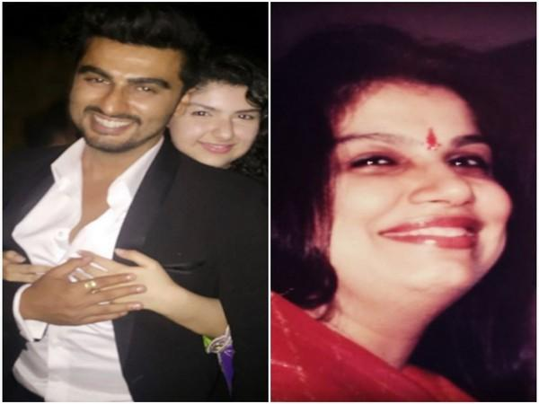 Arjun Kapoor with sister Anshula and their mother (Image Source: Instagram)
