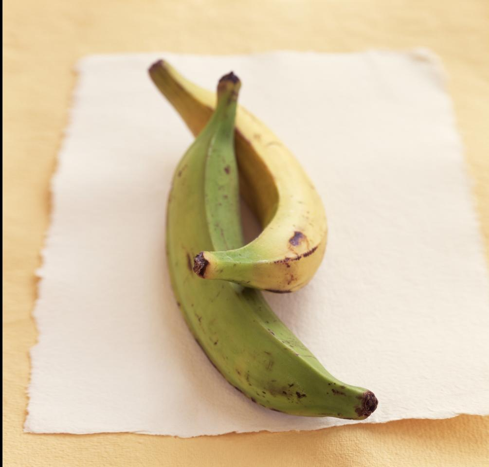 """<p>A half cup of cooked plantains packs almost 3 grams of <a href=""""https://www.health.com/health/article/0,,20409809,00.html"""">Resistant Starch</a>, a healthy carb that boosts metabolism and burns fat.</p> <p><strong>Try this recipe:</strong> <strong><a href=""""https://www.health.com/health/recipe/0,,10000001063293,00.html"""">Honey-Lime Plantains</a></strong></p>"""