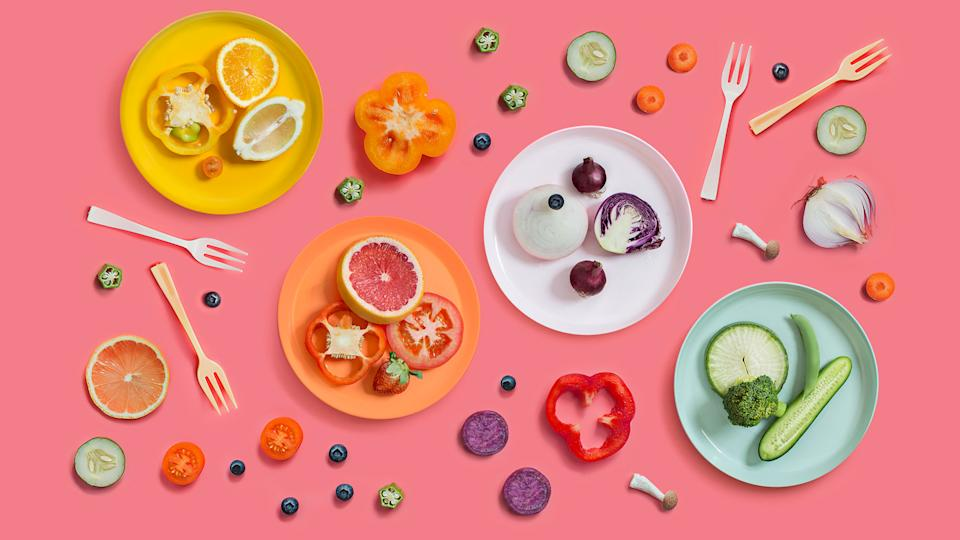 Eating a rainbow of fruit and vegetables is key to a long life