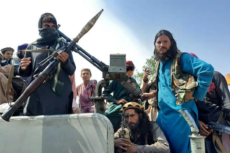 Taliban fighters are seen in Afghanistan's Laghman province -- the militants are effectively in power after the country's president Ashraf Ghani fled