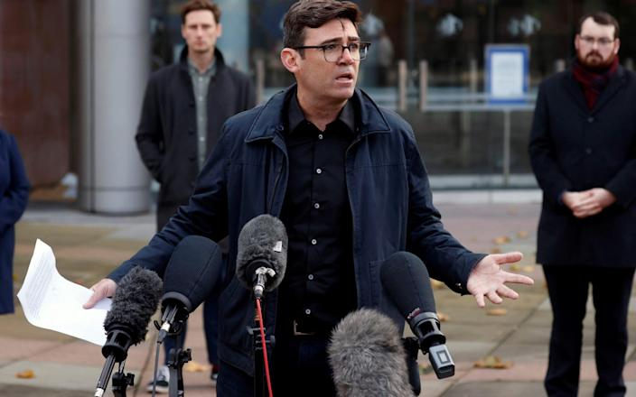 Andy Burnham, mayor of Manchester - PHIL NOBLE/Reuters