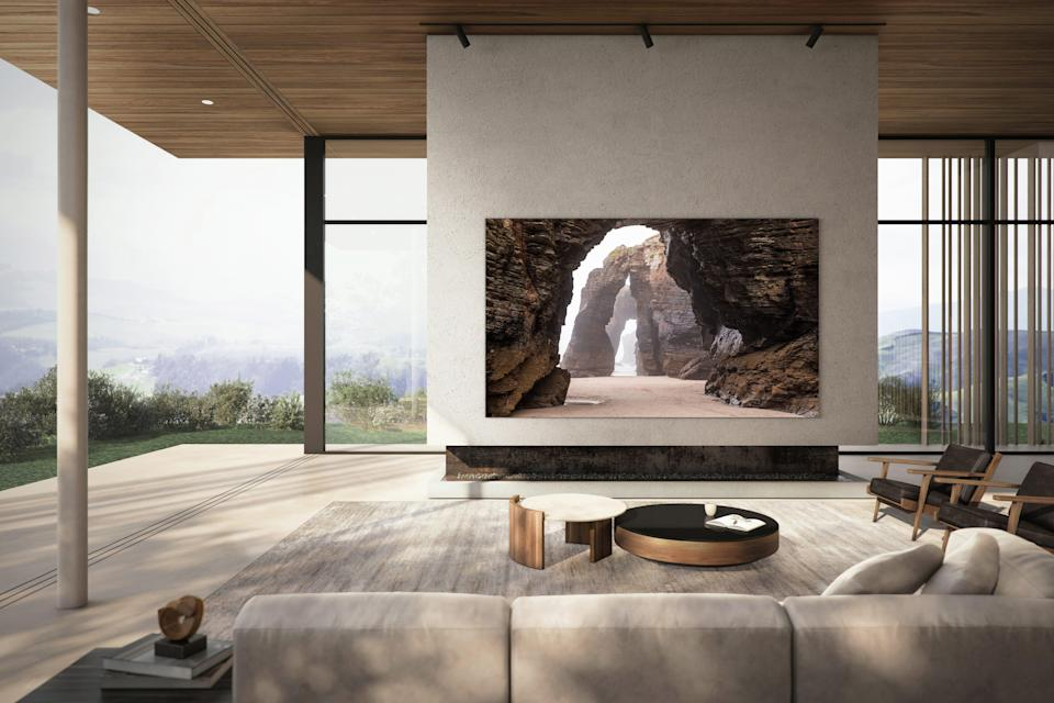 Samsung has new 110-inch, 99-inch and 88-inch MicroLED TVs coming in 2021.