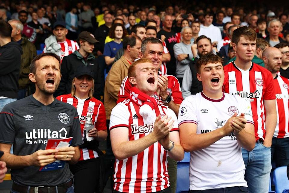 Brentford's travelling supporters gave as good as they got (Getty Images)