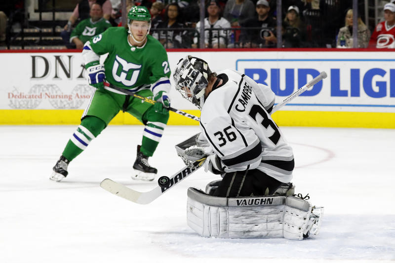 Hurricanes shut out Kings 2-0 behind Reimer's 41 saves