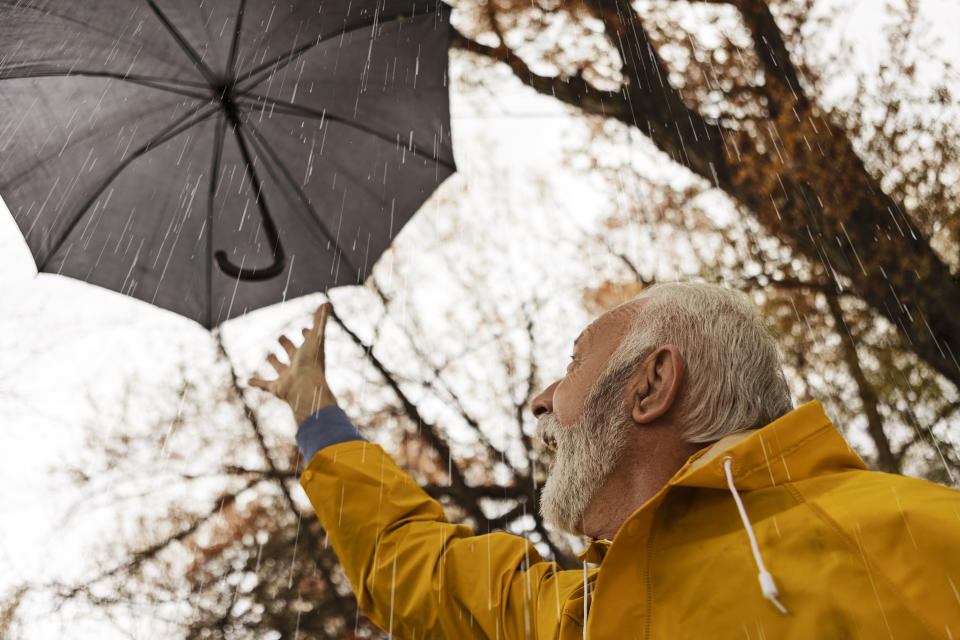 For those set on relocating or staying put for their golden years, they will likely have to contend with wild weather and safeguarding their homes. (Photo: Getty)