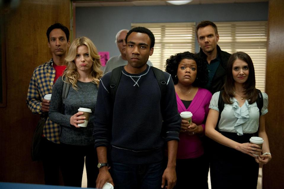 """<p>This beloved cult-favorite sitcom started on NBC and finished on Yahoo, but now you can watch the entire run on Netflix and find out what a Greendale Human Being is, why <em>Troy and Abed in the Morning</em> is the best show that never existed, and the origins of the """"darkest timeline.""""</p> <p><a href=""""https://cna.st/affiliate-link/2Z6F81fjBAMUbaw55t2E8q41eU5eDQYHEH5vMP7s8X5gXGxyxd3zMWPNSLVfSbD6S5rxYoM8tGAYsiVuALzLnBL3Hhqz?cid=56957fed085ae0a85036f6c6"""" rel=""""nofollow noopener"""" target=""""_blank"""" data-ylk=""""slk:Available to watch on Netflix"""" class=""""link rapid-noclick-resp""""><em>Available to watch on Netflix</em></a></p>"""