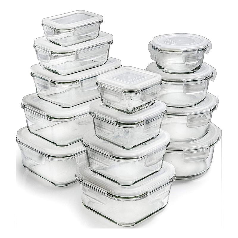 Prep Naturals Glass Storage Containers with Lids (13-pack). (Photo: Amazon)