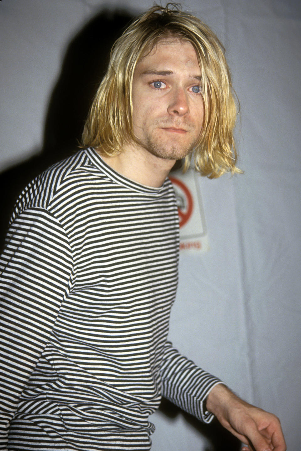 Kurt Cobain at the 1993 MTV Video Music Awards — a year before his death. (Photo: Vinnie Zuffante/Getty Images)