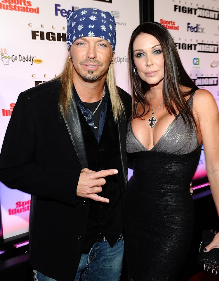PHOENIX, AZ - MARCH 19:  Musician Bret Michaels (L) and Kristi Gibson arrive at Muhammad Ali's Celebrity Fight Night XVII at JW Marriot Desert Ridge Resort & Spa on March 19, 2011 in Phoenix, Arizona.  (Photo by Michael Buckner/Getty Images for Celebrity Fight Night) *** Local Caption *** Kristi Gibson;Bret Michaels