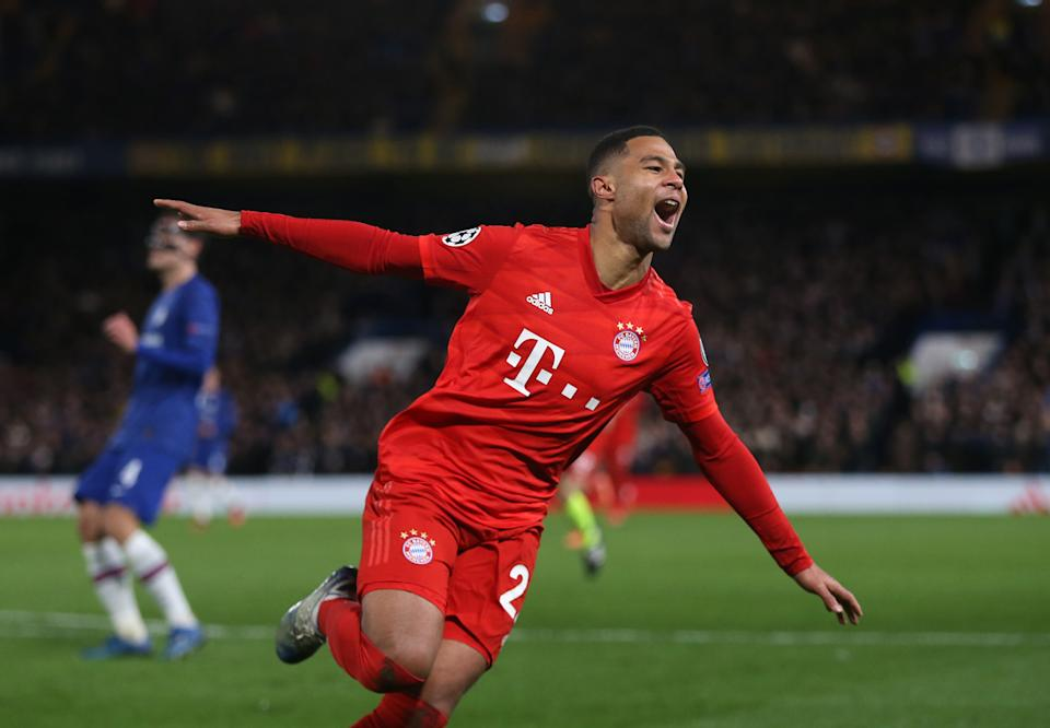 Bayern Munich's Serge Gnabry scored two second-half goals Tuesday in a 3-0 win over Chelsea. (Rob Newell/Getty)