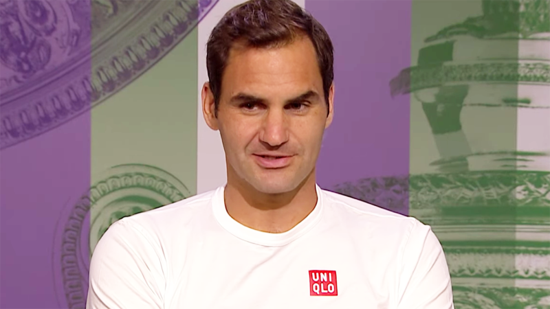 Roger Federer put on a show in his press conference after winning in Wimbledon's fourth round.