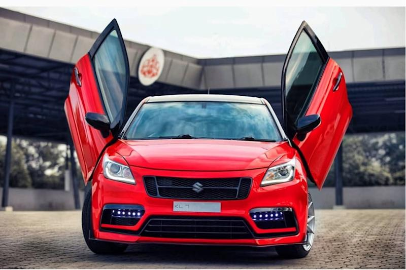 Modified Maruti Suzuki Baleno with Scissor Doors Looks Like a Proper Hot Hatch