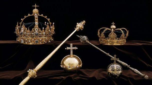 2018 robbers stole two crowns worn by King Charles IX and his wife Queen Christina from a Swedish cathedral