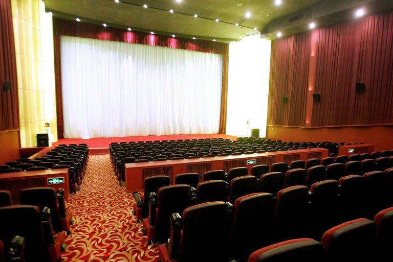A view of Beijing's Daguanlou movie theater on December 19, 2005