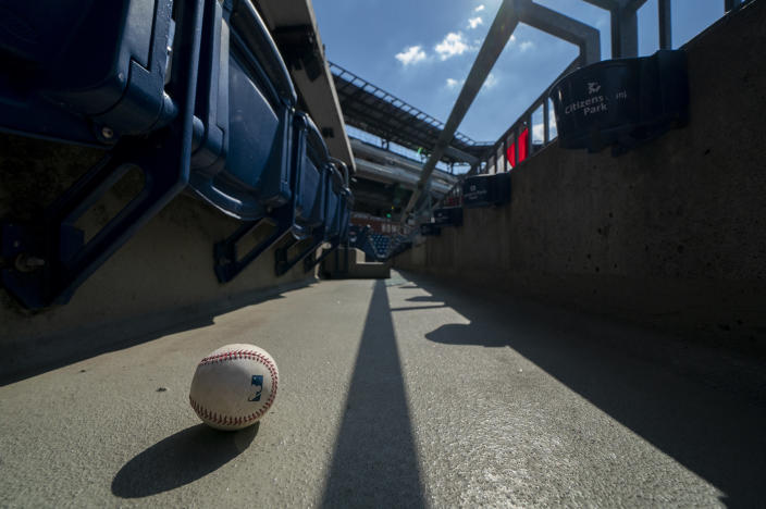 A reported outbreak of positive COVID-19 tests on the Marlins has jeopardized MLB's season. (AP Photo/Chris Szagola)