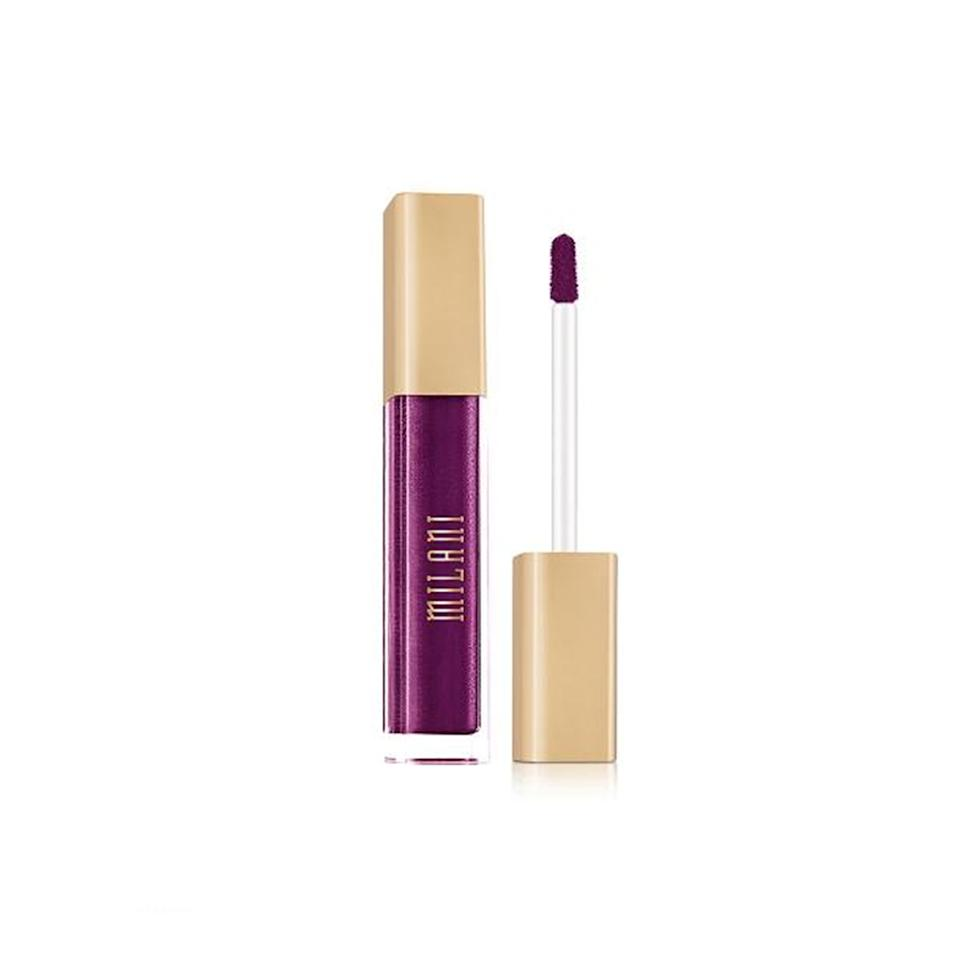 """<p>The Milani Amore Matte Metallic Lip Crème is a mess-free way to <em>finally</em> try out <a href=""""http://www.allure.com/story/pat-mcgrath-glitter-makeup-at-maison-margiela?mbid=synd_yahoo_rss"""">glitter lips</a>. You don't need to break out the sparkly stuff to make your lips shine bright like a diamond. Just one swipe of this liquid lipstick will do the trick.</p> <p>$9 (<a href=""""https://shop-links.co/1664577612817290045"""" rel=""""nofollow"""">Shop Now</a>)</p>"""