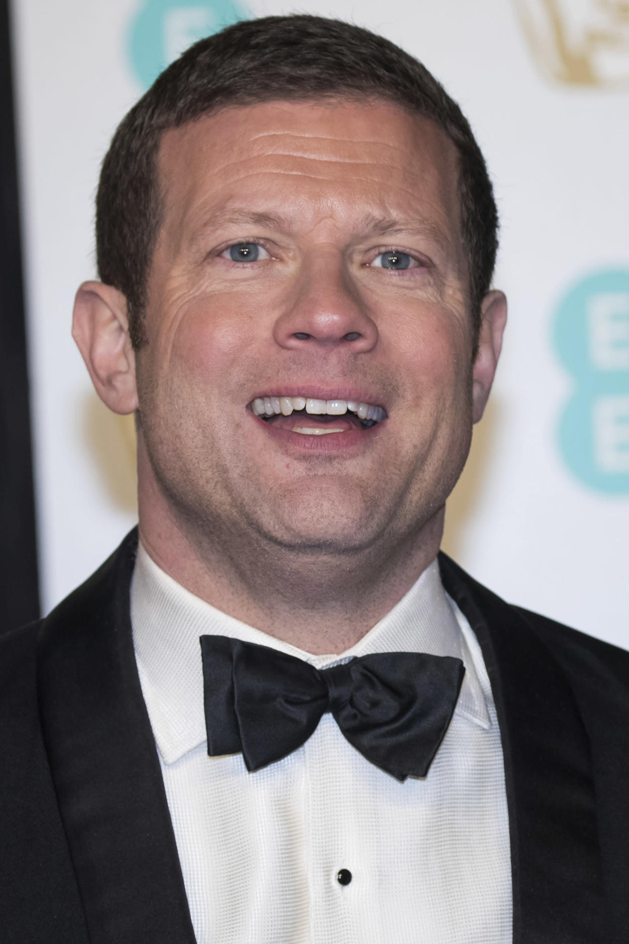 Dermot O'Leary poses for photographers upon arrival at the BAFTA Film Awards in London, Sunday, Feb. 10, 2019. (Photo by Vianney Le Caer/Invision/AP)