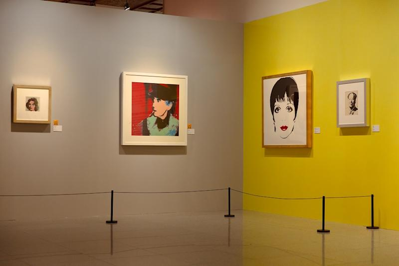 Andy Warhol's Liza Minelli hangs second from right. Photo: Media Sphere Communications Ltd. / Courtesy