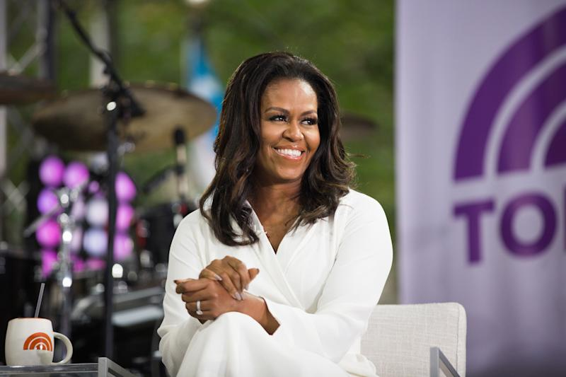 "Michelle Obama on the set of ""Today."""