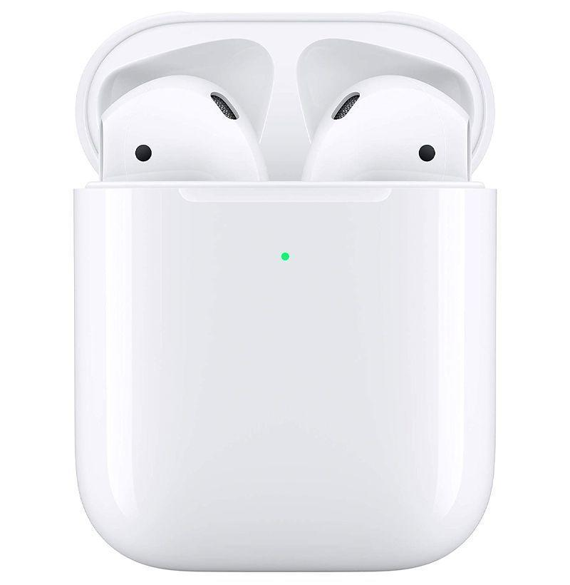 """<p><strong>Apple</strong></p><p>amazon.com</p><p><strong>$129.00</strong></p><p><a href=""""https://www.amazon.com/dp/B07PYLT6DN?tag=syn-yahoo-20&ascsubtag=%5Bartid%7C10049.g.37898893%5Bsrc%7Cyahoo-us"""" rel=""""nofollow noopener"""" target=""""_blank"""" data-ylk=""""slk:Shop Now"""" class=""""link rapid-noclick-resp"""">Shop Now</a></p><p><strong><del>$199.00</del> (35% off)</strong></p><p>Now onto the 2nd-gen AirPods, with wireless charging. If you need to replace your 1st-gen AirPods, treat yourself (or whoever in your life) to an update.</p>"""