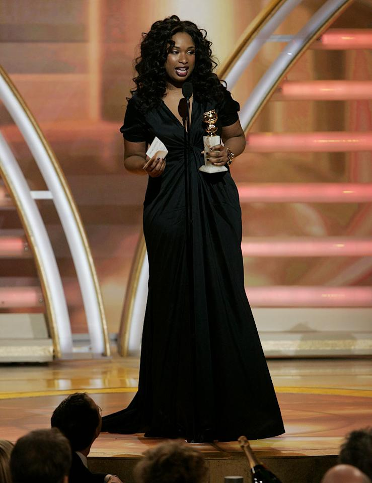 """Jennifer Hudson kicks off the show with a much-anticipated win at <a href=""""/the-64th-annual-golden-globe-awards/show/40075"""">the 64th annual Golden Globe Awards</a>."""