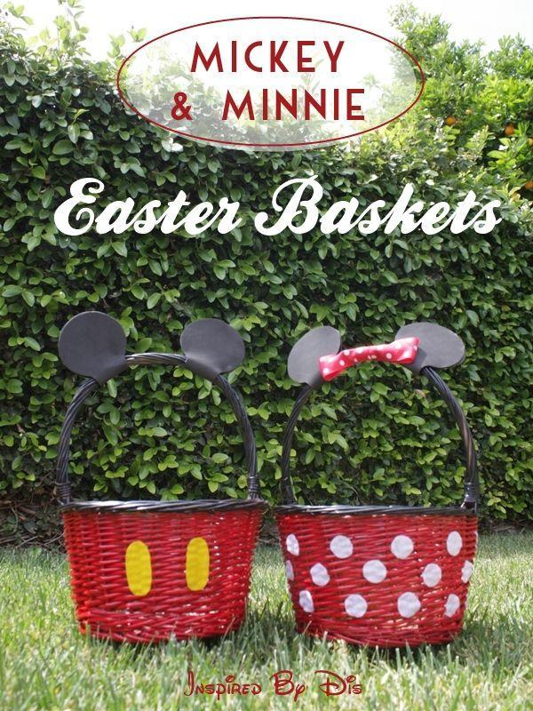 """<p>With a little bit of spray paint and felt, turn a plain wicker basket into your kid's favorite Disney characters.</p><p><a href=""""http://thisfairytalelife.com/diy-mickey-minnie-easter-baskets/"""" rel=""""nofollow noopener"""" target=""""_blank"""" data-ylk=""""slk:Get the tutorial from This Fairy Tale Life »"""" class=""""link rapid-noclick-resp""""><em>Get the tutorial from This Fairy Tale Life »</em></a></p>"""