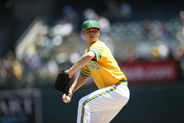 "<a class=""link rapid-noclick-resp"" href=""/mlb/players/9459/"" data-ylk=""slk:Sonny Gray"">Sonny Gray</a> seemed like a good bet to return to form in 2017, but his spring gives reason for pause. (Getty Images/Michael Zagaris)"