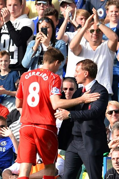 Friends become foes: Brendan Rodgers and Steven Gerrard spent three seasons together at Liverpool