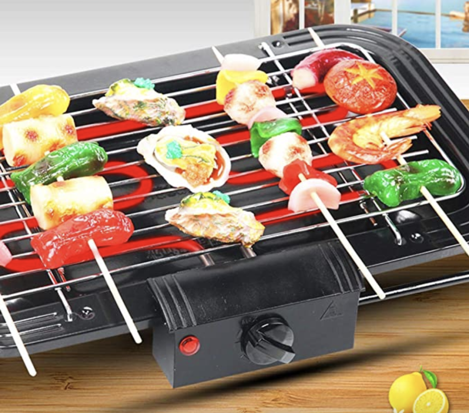 PHOTO: Amazon. Electric BBQ Grill Electric Smokeless Indoor Barbecue