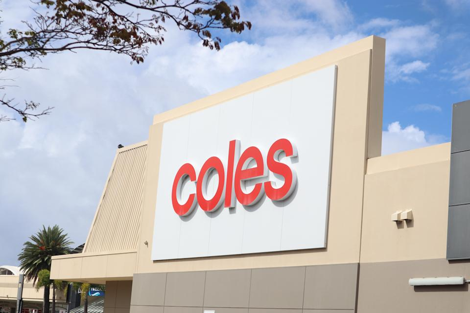 Coles sign exterior shopping centre. Source: Getty Images
