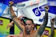 Dressel completes freestyle swimming sprint double