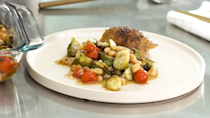 """<p><strong>Recipe: <a href=""""https://www.southernliving.com/recipes/crispy-baked-chicken-thighs"""" rel=""""nofollow noopener"""" target=""""_blank"""" data-ylk=""""slk:Crispy Baked Chicken Thighs with Brussels and Beans"""" class=""""link rapid-noclick-resp"""">Crispy Baked Chicken Thighs with Brussels and Beans</a></strong></p> <p>Grab your 9-by 13-inch baking dish and handful of ingredients and you've got dinner. If you're a beginner cook, this is a recipe you simply cannot mess up.</p>"""