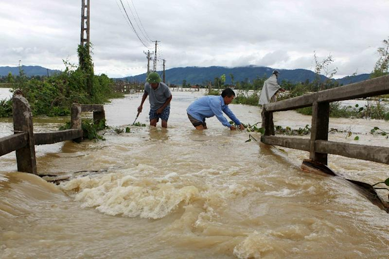 Tens of thousands were evacuated after heavy rains lashed swathes of the country this week, as forecasters warned of more bad weather coming (AFP Photo/VIETNAM NEWS AGENCY)