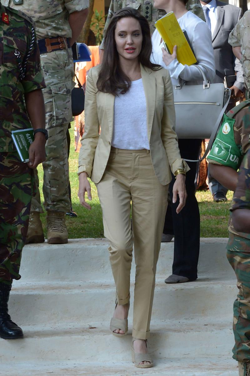 Angelina Jolie Lobbies for Peace in the Perfect Summer Suit