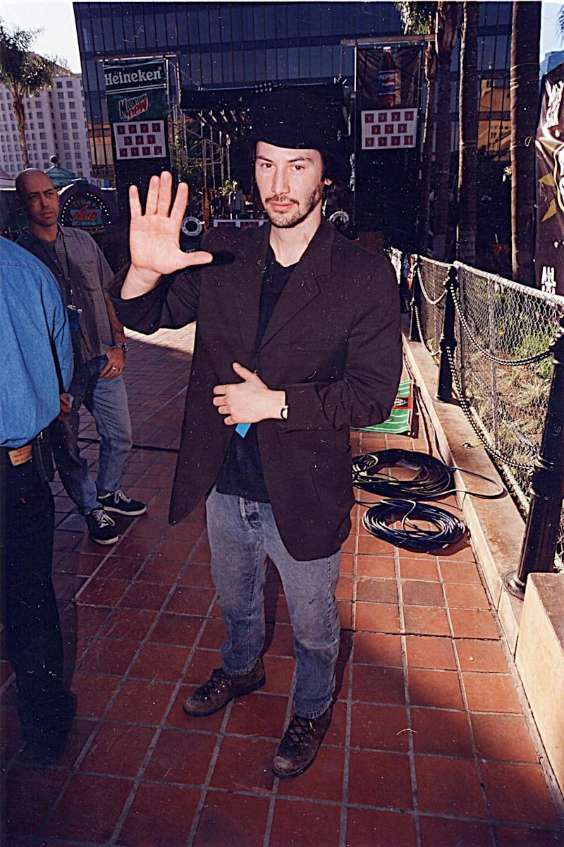 Reeves during the opening of All Star Cafe '98 at All Star Cafe in San Diego, California.