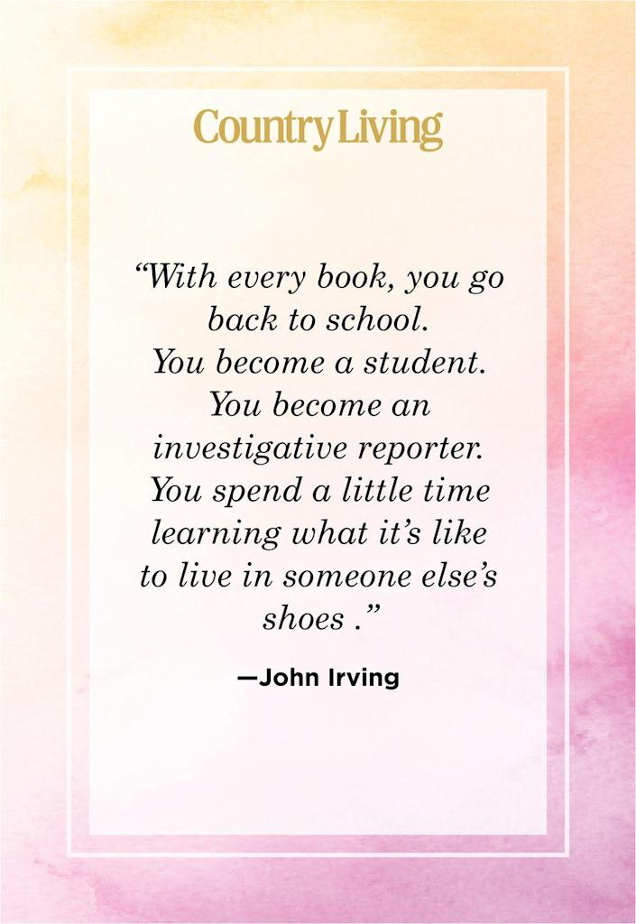 """<p>""""With every book, you go back to school. You become a student. You become an investigative reporter. You spend a little time learning what it's like to live in someone else's shoes.""""</p>"""